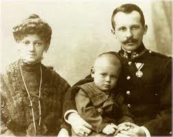 Karol Wojtyla as a child with his mother Emilia Wojtyla and his father Karol Wojtla Sr.